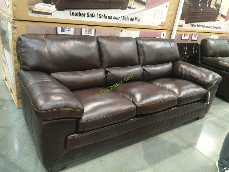 Costco 1074701 Simon Li Leather Sofa