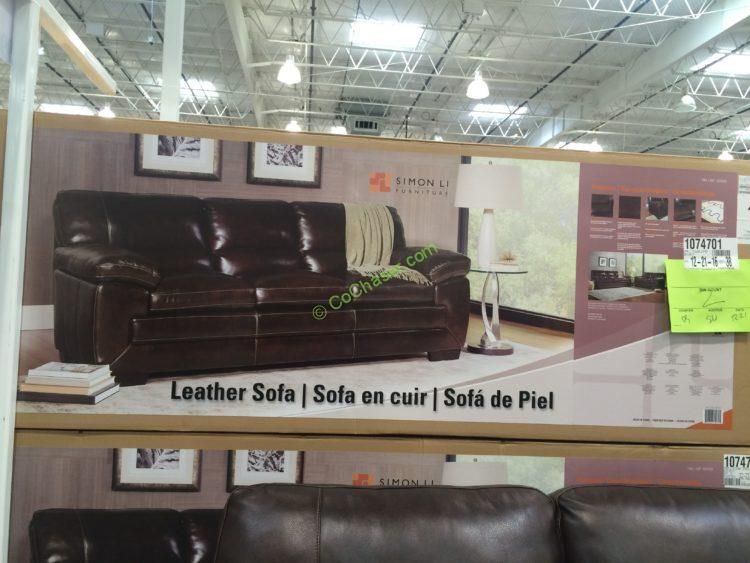 Costco 1074702 Simon Li Leather Loveseat Box