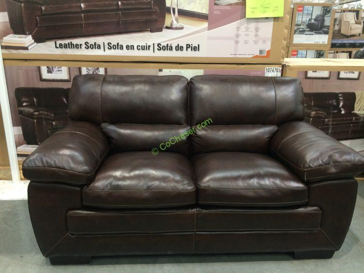 Costco 1074702 Simon Li Leather Loveseat