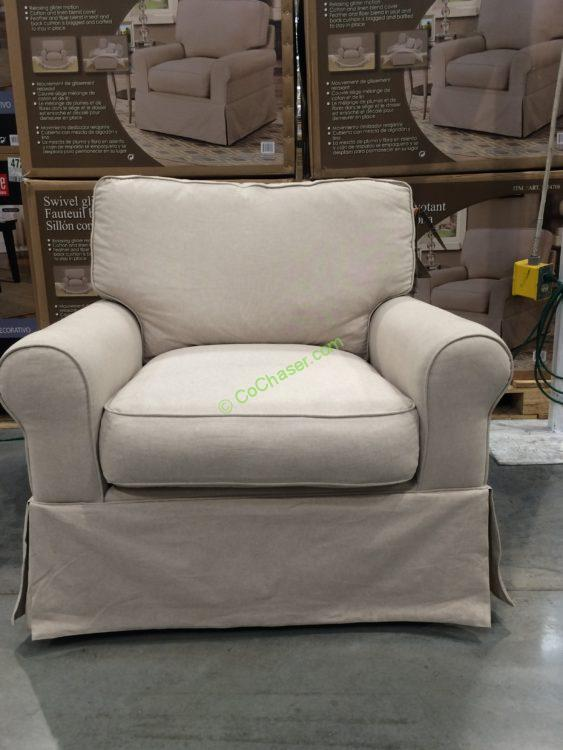 Synergy Home Fabric Swivel Glider