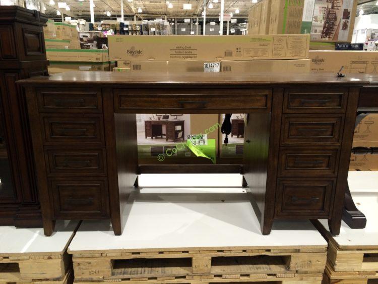 Bayside Furnishings Executive Writing Desk Double Pedestal, Model#0078-A