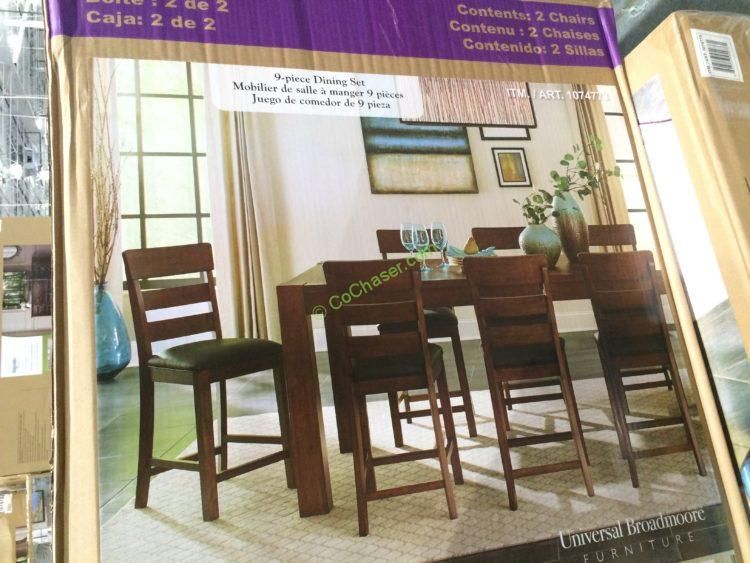 Universal Broadmoore 9pc Counter Height Dining Set