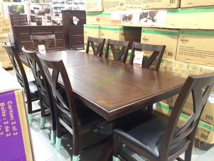 Bayside Furnishings 9PC Dining Set, Model# 0078-A