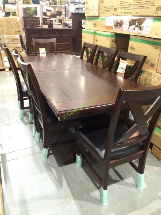Bayside Furnishings 9pc Dining Set Model 0078 A