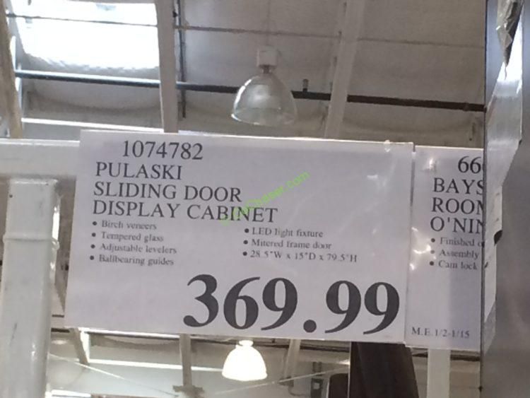 Costco-1074782-Pulaski-Sliding-Door-Display-Cabinet-tag