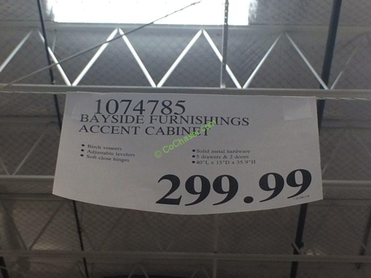 Costco-1074785-Bayside-Furnishing-Accent-Cabinet-tag