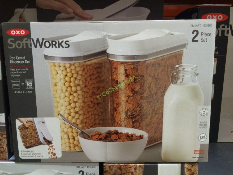 OXO 2PK Cereal keeper
