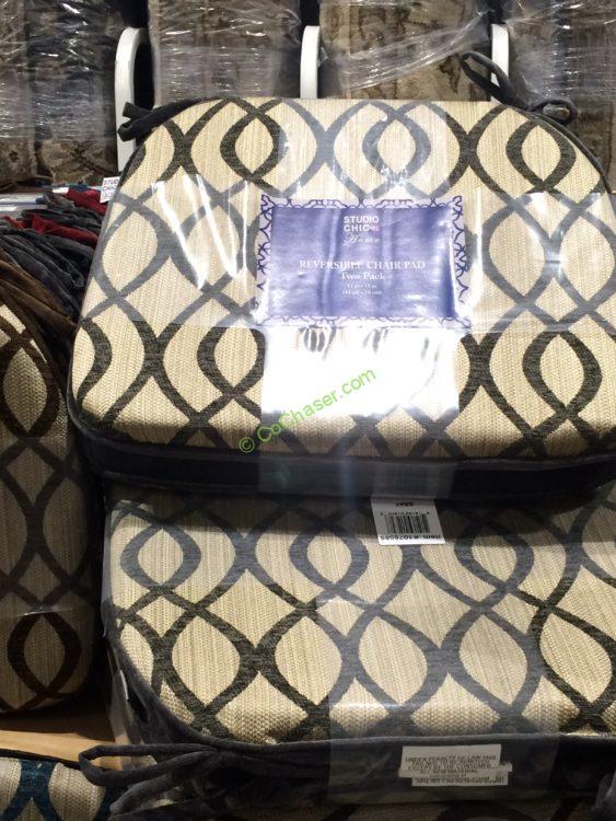 Studio Chic Reversible Chair Pad 2 Pack Costcochaser
