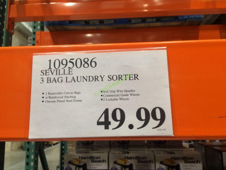 Costco-1085086- Seville-3Bag-laundry-Sorter-tag