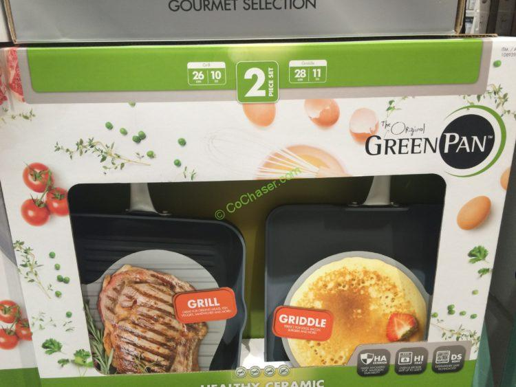Greenpan 2PK Hard Anodized Grill & Griddle COMBO