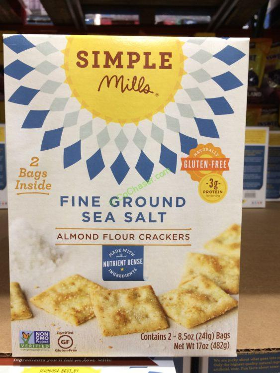 Simple Mills Almond Flour Crackers 17 Ounce Box
