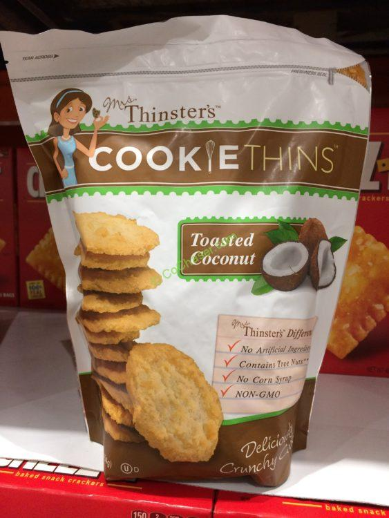 Mrs. Thinsters Coconut Cookie Thins 16 Ounce Bag