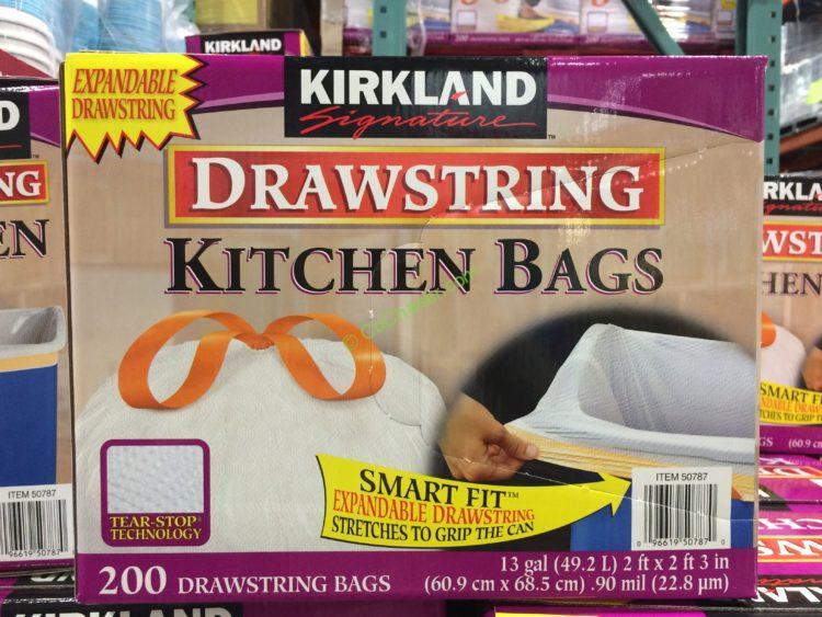 Kirkland Signature 13 Gallon kitchen Bags 200 Count Box