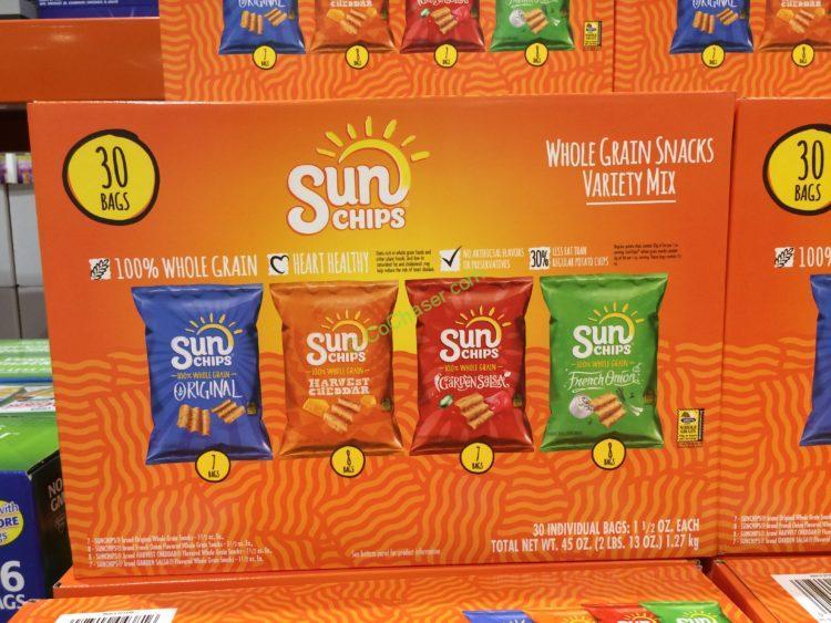 Frito Lay Sun Chips Variety 30 Count Box