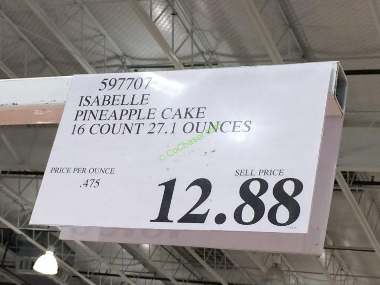 Isabelle Pineapple Cake 16 Count 27 1 Ounce Costcochaser