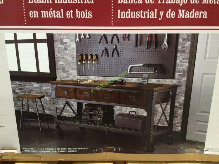 Costco-707636-Whalen-Industrial-Metal-Wood-Workbench-pic