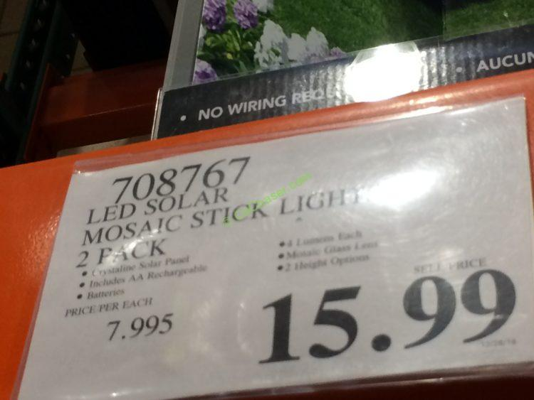Costco 708767 Led Solar Mosaic Stick Light Tag