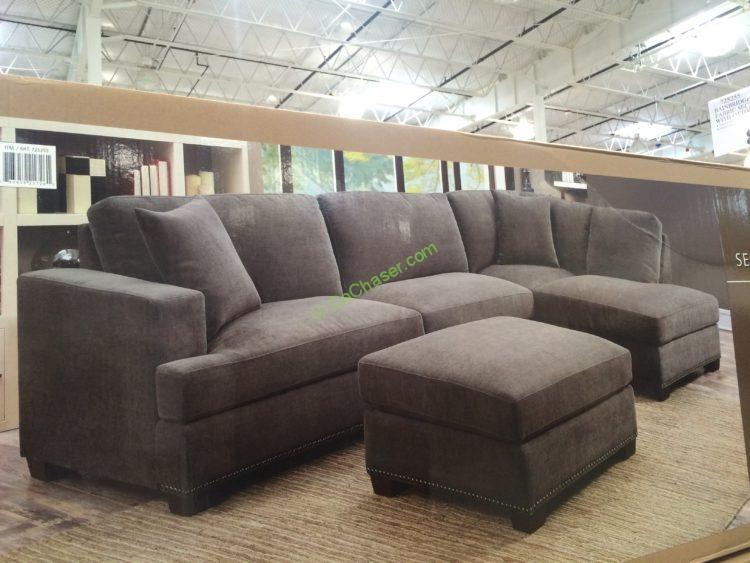 Super Bainbridge 3Pc Fabric Sectional With Ottoman Modelcou4327 Theyellowbook Wood Chair Design Ideas Theyellowbookinfo