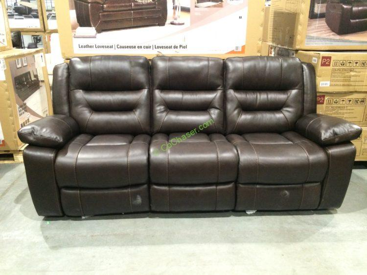 Pulaski Leather Reclining Sofa 726445 Costco Chaser