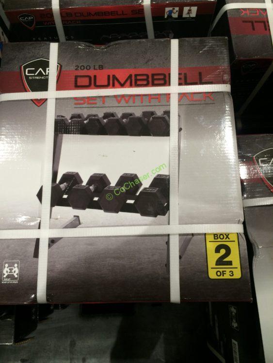 Cap Barbell 200 Lb Dumbbell Set Horizontal Rack