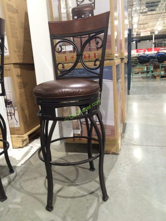 American Heritage Swivel Metal Barstool Bar Height Costcochaser