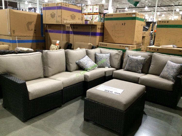 Pacific Casual 7PC Woven Sectional