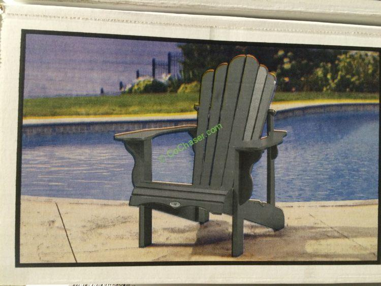 Leisure line classic adirondack chair costcochaser - Chaise adirondack plastique recycle costco ...