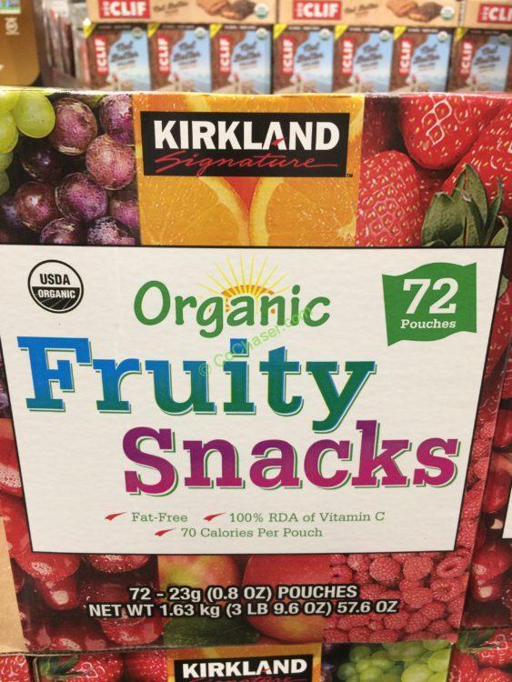 Kirkland Signature Organic Fruity Snack 72 Count Box