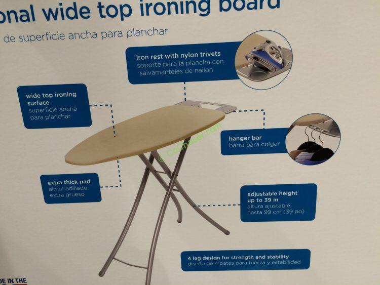HOMZ Adjustable Height Ironing Board