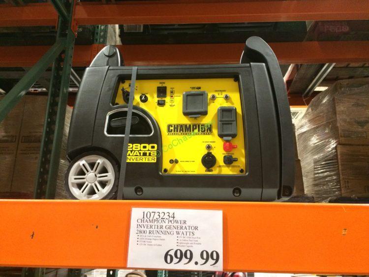 Champion Power Inverter Generator 2800 Running Watts, Model