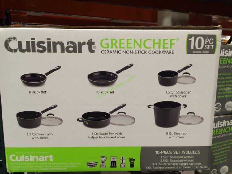 Costco 1077477 Cuisinart Greenchef Nduction Ready Ceramic Non Stick Cookware Set Item1 Costcochaser