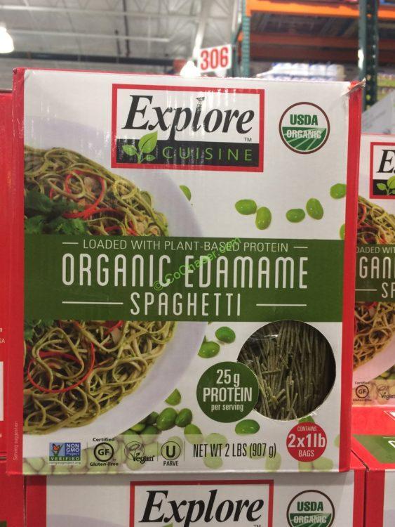 Explore Cuisine Organic Edamame Spaghetti 2 Pound Box
