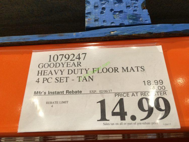 Costco-1079247-Goodyear-Heavy-Duty-Floor-Mat-4PC-Set-tag