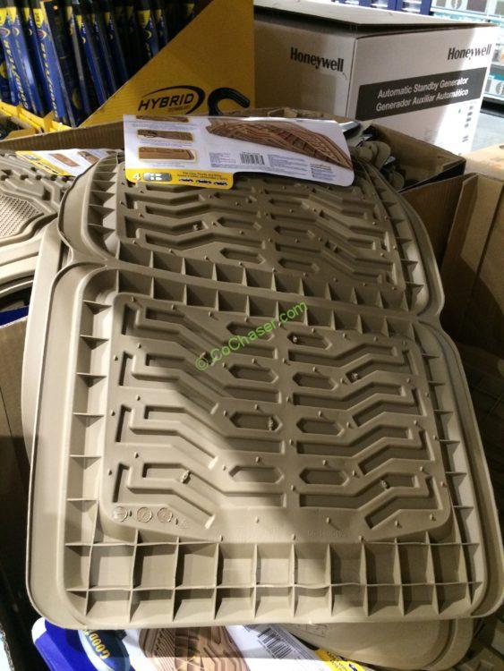 Goodyear 4 Piece Car Mat Set Tan Black And Gray