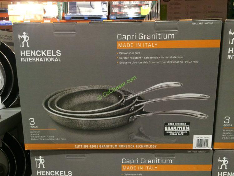 Henckels Capri Granitium 3pk Aluminum Fry Pan Set