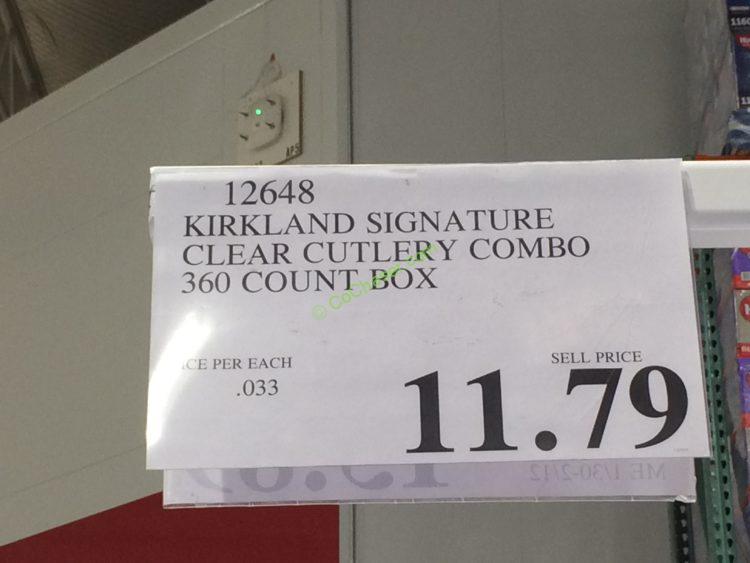 Kirkland Signature Clear Cutlery Combo 360 Count Box