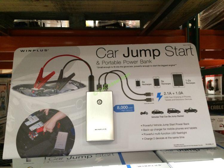 Winplus Car Jump Starter Portable Power Bank Costcochaser