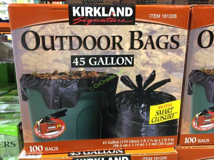 Kirkland Signature 45 Gallon Outdoor Bags 100 Count Box