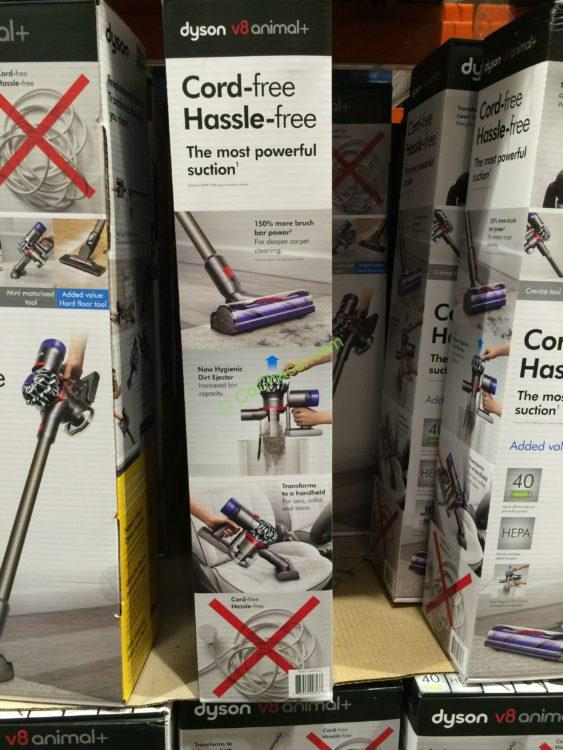 costco 1949310 dyson v8 animal cordless stick vacuum back costcochaser. Black Bedroom Furniture Sets. Home Design Ideas