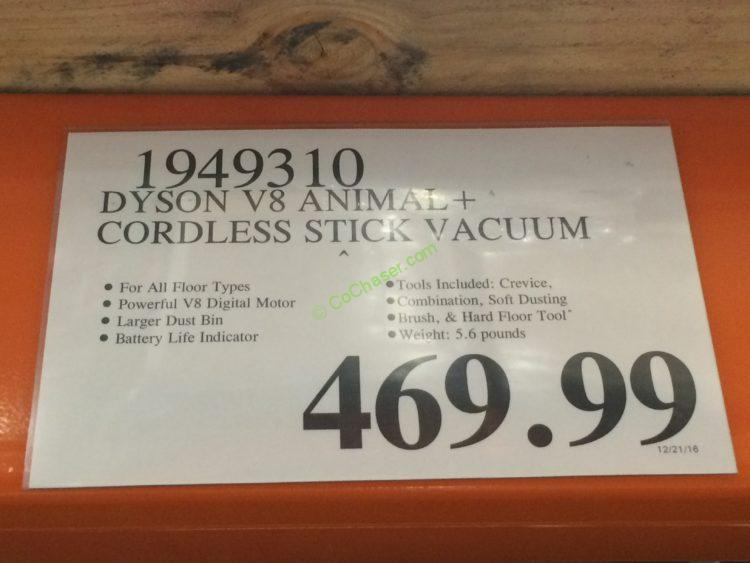 costco 1949310 dyson v8 animal cordless stick vacuum tag costcochaser. Black Bedroom Furniture Sets. Home Design Ideas