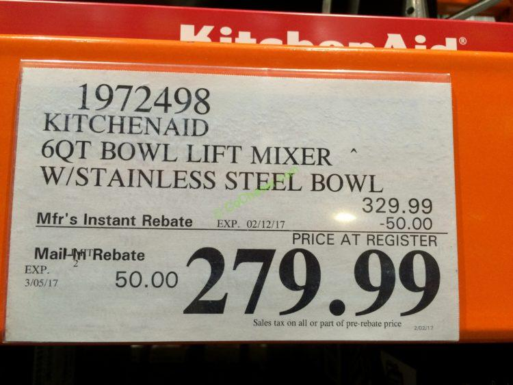 Costco-1972498-Kitchenaid-6QT-Bowl-Lift-Mixer-with-Stainless-Steel-Bowl-tag1