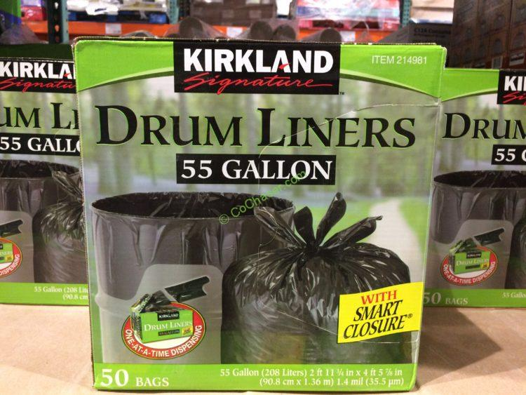 Kirkland Signature 55 Gallon Drum Liners 50 Count Box
