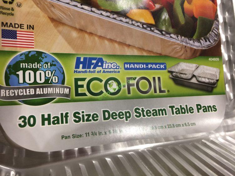 Eco Foil Half Size Steam Table Pans 30 Ct Costcochaser