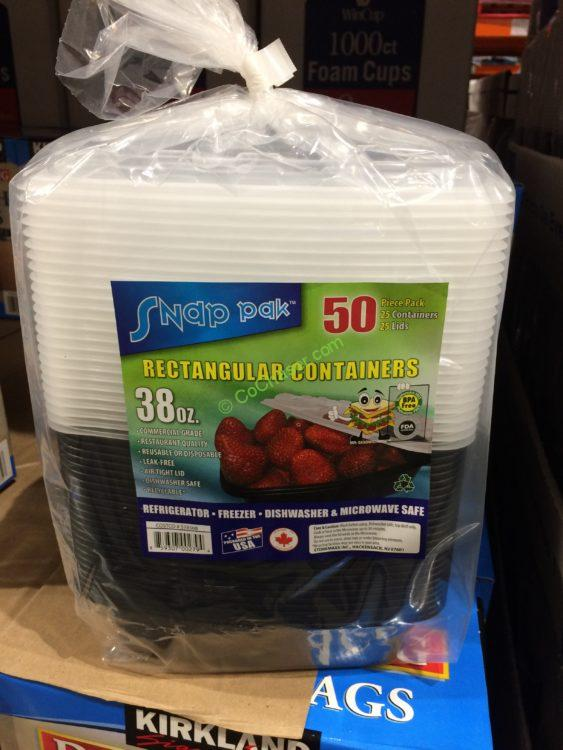 Snap Pak 38 oz Storage Container 25 Count with Lids CostcoChaser