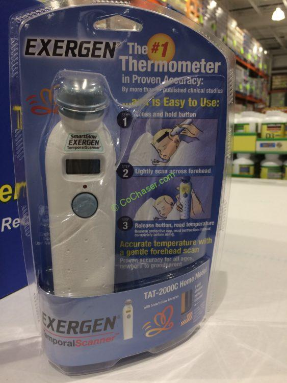 Exergen Temporal Artery Thermometer Tat 2000c Home Model Costcochaser