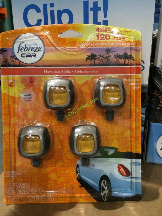 Febreze Air Freshener 4 Pack Car Air Vent Clips