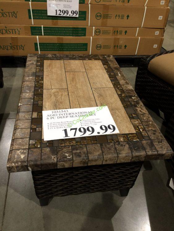 Costco 1031543 Agio Internatiional 6pc Deep Seating Set