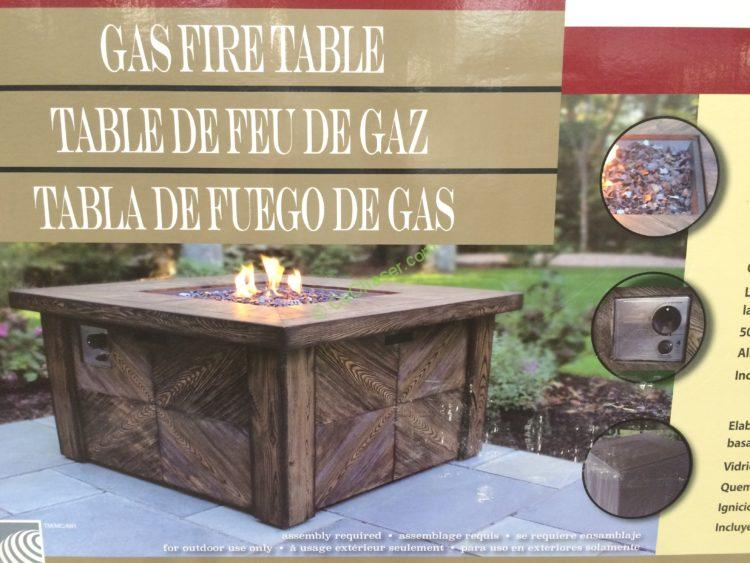 Cool Global Outdoors Faux Wood Fire Table Costcochaser Download Free Architecture Designs Intelgarnamadebymaigaardcom