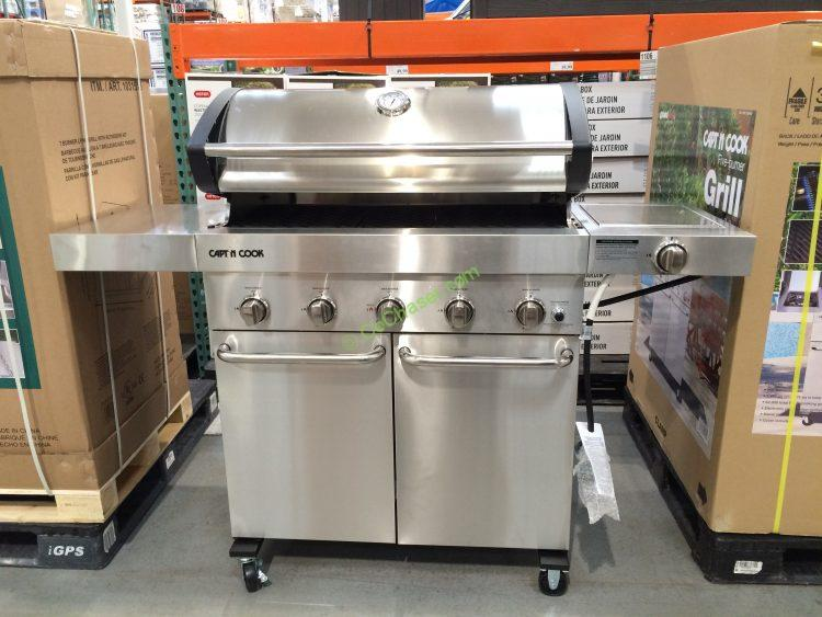 Capt N Cook 5-Burner LP Gas Grill with Side Burner