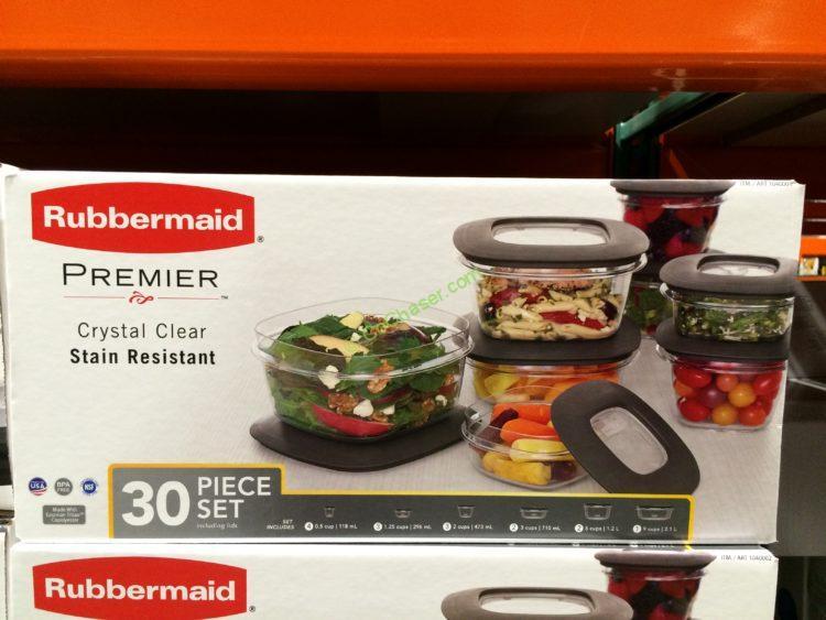 Rubbermaid 30PC Premier Crystal Clear Food Storage Set